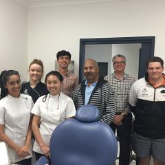 Staff and students at the UQ St George Dental Clinic