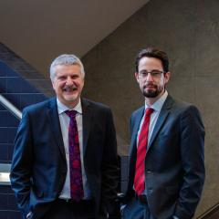 Dr Chris Freeman and Associate Professor Neil Cottrell, Co-Directors of UQ's Centre for Optimising Pharmacy Practice-based Excellence in Research (COPPER),